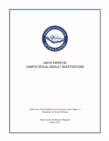 Cover_White_Paper_Campus_Sexual_Assault_Investigations
