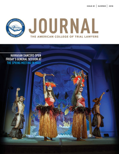 ACTL_Journal_81_Summer_2016_cover